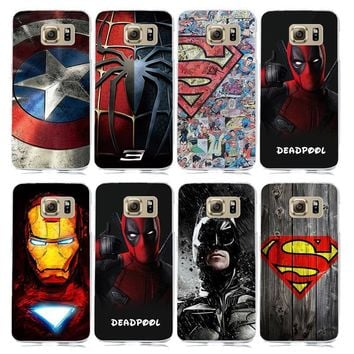 Deadpool Dead pool Taco Marvel Superhero Collection  Avengers Case for coque Samsung Galaxy S6 S7 S7 Edge Hard PC Cover Spiderman Superman Case AT_70_6