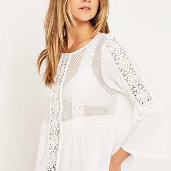 Pins & Needles Lace Crochet Trim Top - Urban Outfitters
