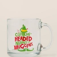 Elf Ninny Muggins Glass Mug