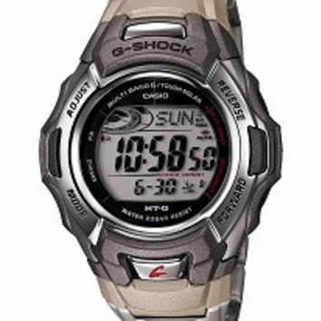 Casio Mens G Shock Stainless Steel Tough Solar Atomic Digital Watch