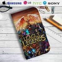 League of Legends Game Leather Wallet iPhone 4/4S 5S/C 6/6S Plus 7| Samsung Galaxy S4 S5 S6 S7 NOTE 3 4 5| LG G2 G3 G4| MOTOROLA MOTO X X2 NEXUS 6| SONY Z3 Z4 MINI| HTC ONE X M7 M8 M9 CASE