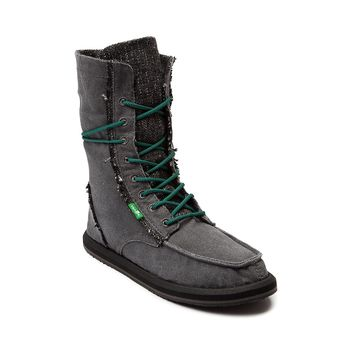 Womens Sanuk Stevie Lace Up Boot, Charcoal | Journeys Shoes
