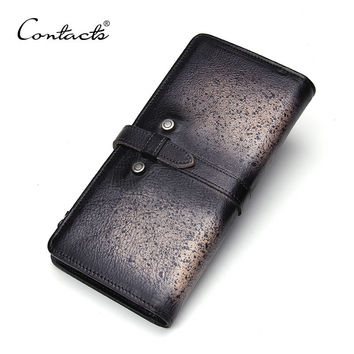 Men Leather Vintage Handcrafts Wallet [9026422147]