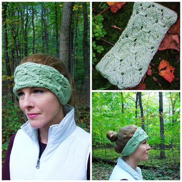 Shamrock Headband Knitting Pattern Knit Ear Warmer