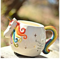 Natural Life Folk Art Mug - Unicorn