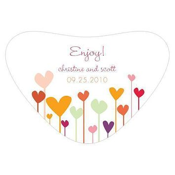Hearts Heart Container Sticker Cool (Pack of 1)