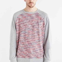Native Youth Reverse Space Dye Crew Neck Sweatshirt- Charcoal