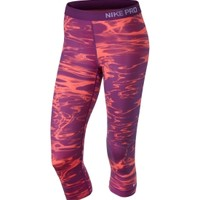 Nike Women's Pro Core Pool Printed Capris