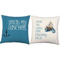 You Are My Anchor Nautical Throw Pillows