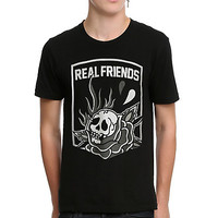 Real Friends Skull Rose T-Shirt
