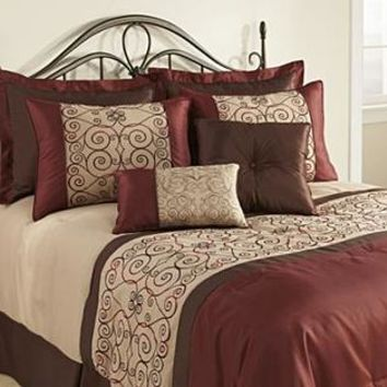 The Great Find- -Firenzia 8-Piece Comforter Set-Bed & Bath-Decorative Bedding-Comforters & Sets