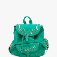 Circle Studded Tri Pocket Back Pack