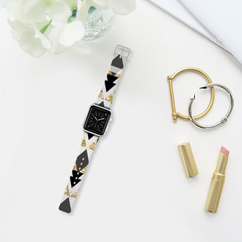 GLITTER GOLD GEOMETRIC - APPLE WATCH Apple Watch Band (38mm) by Nika Martinez | Casetify