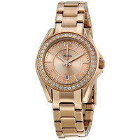 Fossil Women's ES2889 Mini 'Riley' Rosegold Glitz Watch | Overstock.com Shopping - The Best Deals on Fossil Women's Watches