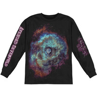 Avenged Sevenfold Men's  Spaceface Logo  Long Sleeve Black