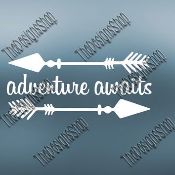 Adventue Awaits SVG  Design | The Mountains Are Calling | SVG File Country Design File | Svg Dxf PDF Sure Cuts A Lot Silhouette Cricut | 237