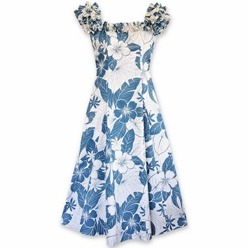 Haven Blue Leilani Hawaiian Muumuu Dress