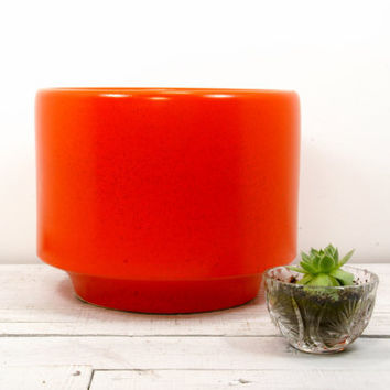Gainey Orange Architectural Planter Pot - Mid Century Modern