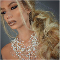 Raining Pearls Gold Necklace