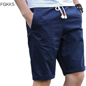 FGKKS Casual Shorts Men 2017 New Summer Cotton Board Shorts Male Brand Fashion High Quality Slim Fit Bermuda Masculina Joggers