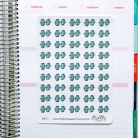 Dumbell Stickers // Cute Workout Planner Stickers (P21.1)