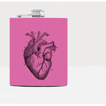 Flask heart-Hip flask-Gift for men-Flask-Gift for boyfriend-Guys birthday gift-Gifts for guys-Guy gift-Whiskey-Alcohol-Funny-Pink-21birthday