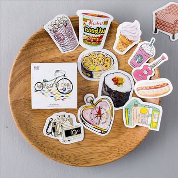 45 Pcs/lot Mini Bicycle Cookies Collection Paper Sticker Decoration Diy Ablum Diary Scrapbooking Label Sticker Kawaii Stationery