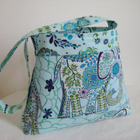 Blue Elephant Tote by moxiebscloset on Etsy