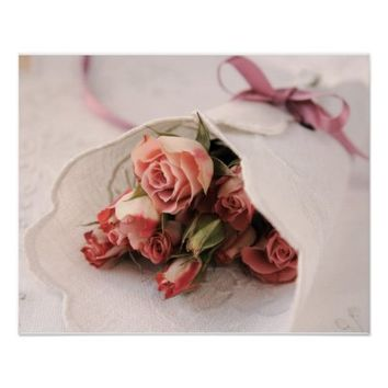 roses with linens poster