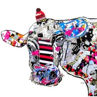 """Cow In New York"" - Art Print by Brian Buckley"