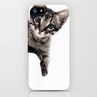 Janine, a beautiful cat iPhone & iPod Case by Ylenia Pizzetti