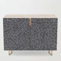Black and faux silver swirls doodles by Savousepate
