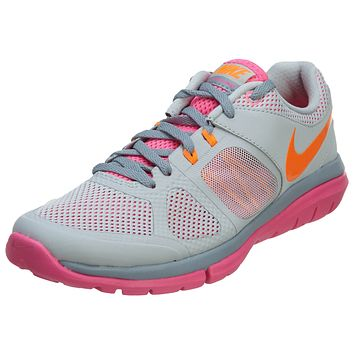 Nike Flex 2014 RN MSL Grey Orange Pink Womens Style :642780