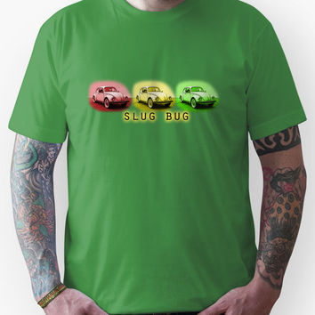Slug Bug Red Yellow Green Volkswagen Unisex T-Shirt