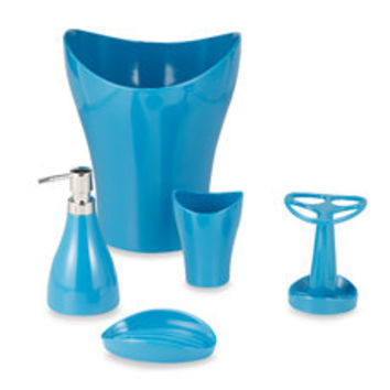 Umbra Curvino Peacock Blue Bath Ensemble - Bed Bath & Beyond