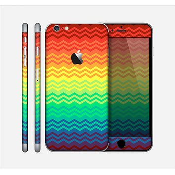 The Rainbow Thin Lined Chevron Pattern Skin for the Apple iPhone 6 Plus