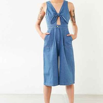 ASTR Laura Denim Jumpsuit - Urban Outfitters
