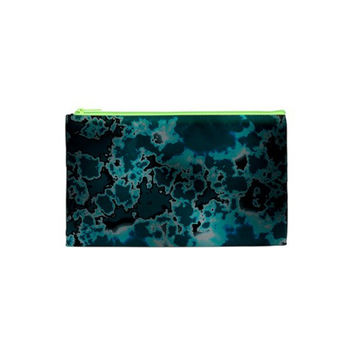 Unique Marbled Teal Cosmetic Bag (XS)