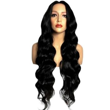 Natural Hair Fashion Curly Wigs Women Long Wavy Wig Synthetic Wig Cosplay Wig for Black  Women Heat Resistance Fiber A17