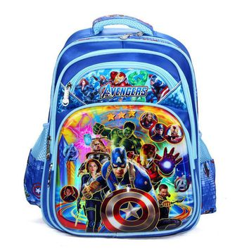 2017 high quality super hero Avengers bags Schoolbag,kids Backpack College Wind children Backpack School Bags For Teenagers 1-4
