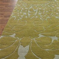 Old World Scroll Wool Area Rug in Grey - NuLoom | Burke Decor