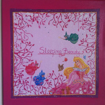Sleeping Beauty Canvas Painting by litsakiv on Etsy
