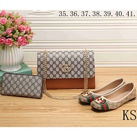 GUCCI 2018 new women's high-quality fashion exquisite three-piece F-KSPJ-BBDL brown