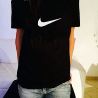 Fashion Nike short-sleeve hot cotton T-shirt top Black
