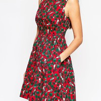 Emily & Fin Lucy Dress In Bird Print