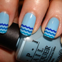 Ocean Wave Nail Decals 36 Ct.