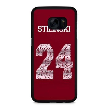 Stiles Quote Jersey Stilinski Samsung Galaxy S7 Edge Case