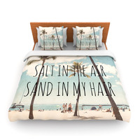 "Nastasia Cook ""Salt in the Air"" Beach Trees Lightweight Duvet Cover"