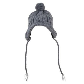 Worthy Dog Toboggan Dog Hat - Gray