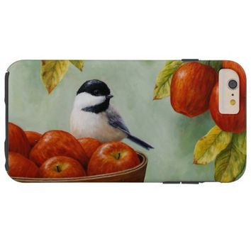 Chickadee and Apple Basket Tough iPhone 6 Plus Case